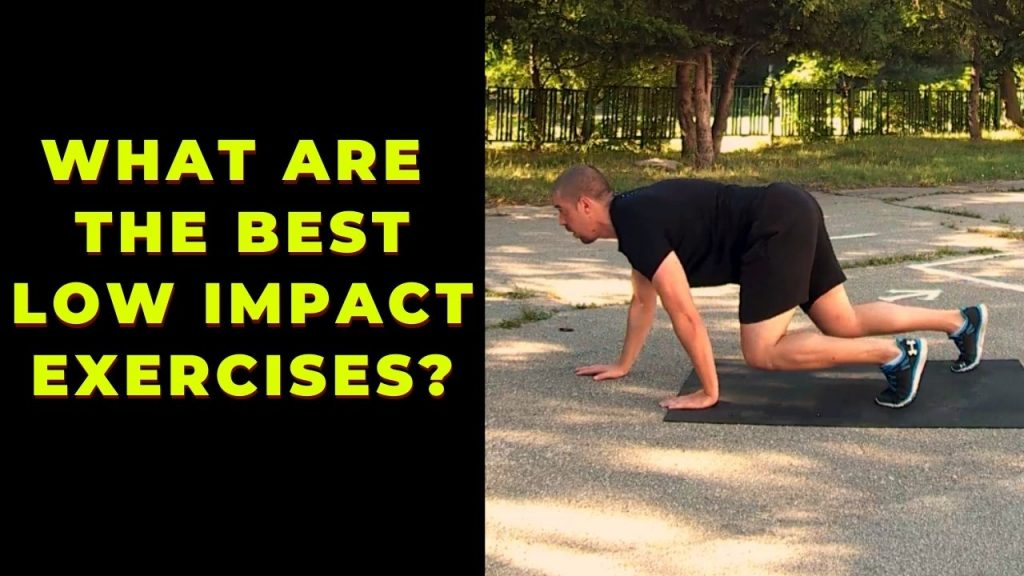 Man performing low impact crawling for weight loss