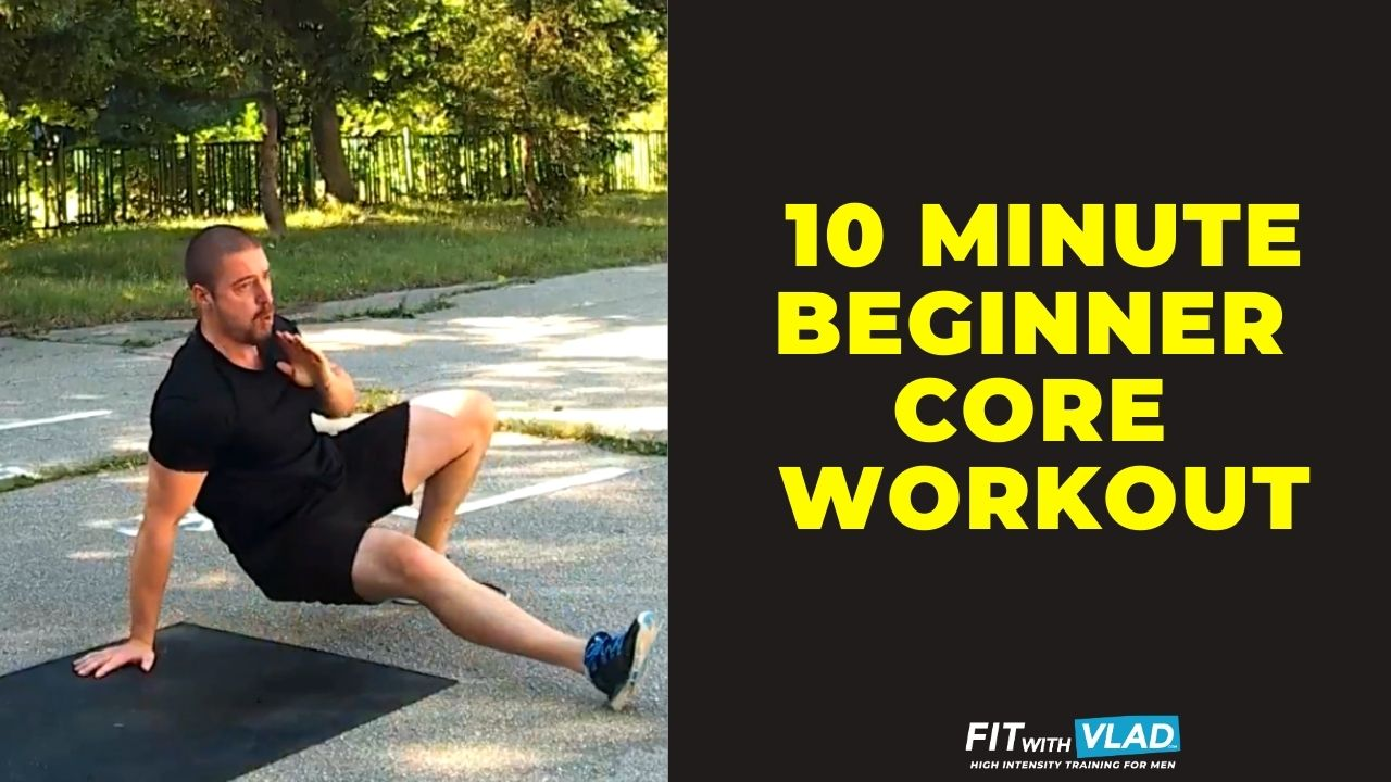 10 minute beginner core workout at home