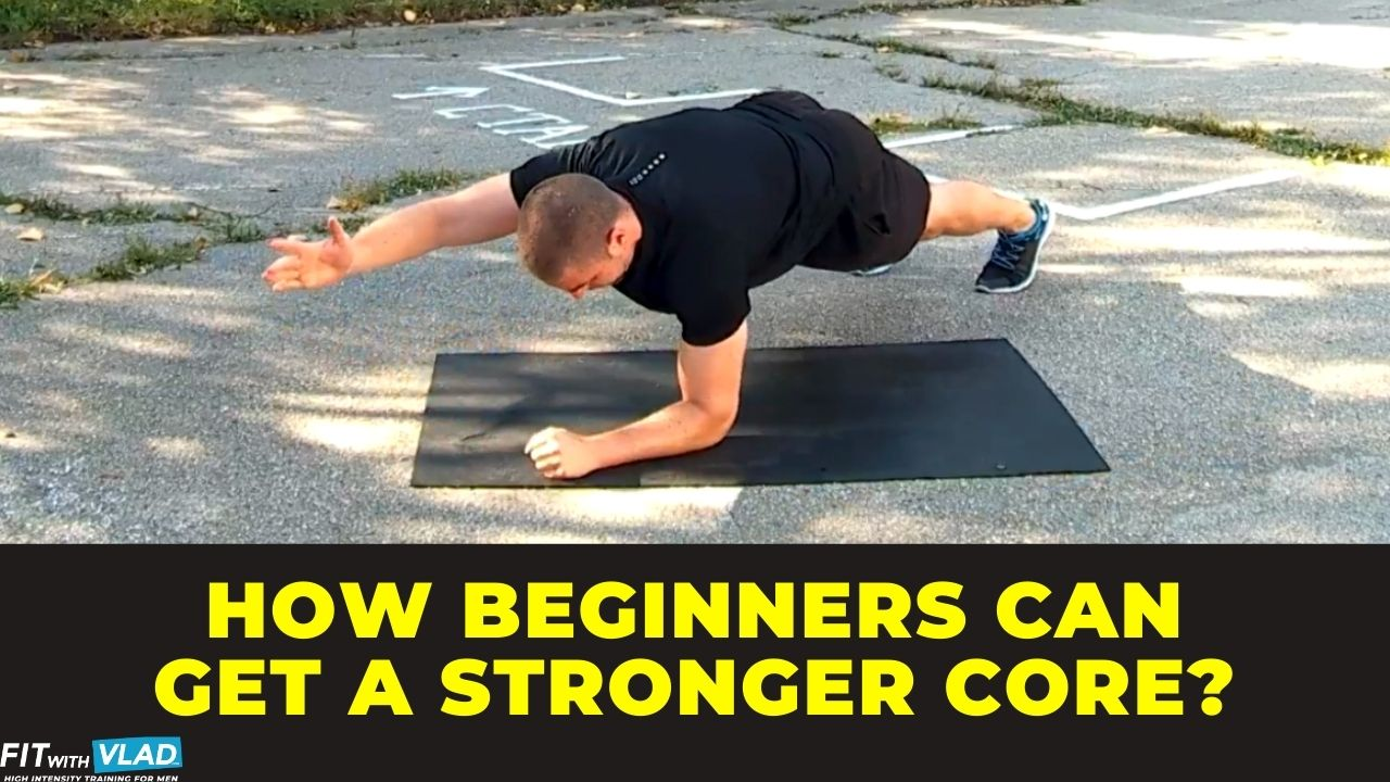 how beginners can get a stronger core