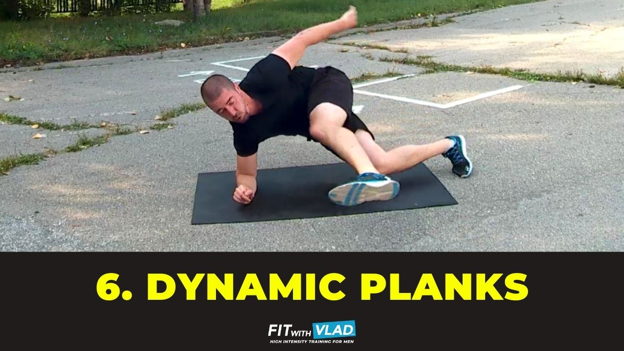 top 10 core exercises without equipment - dynamic planks