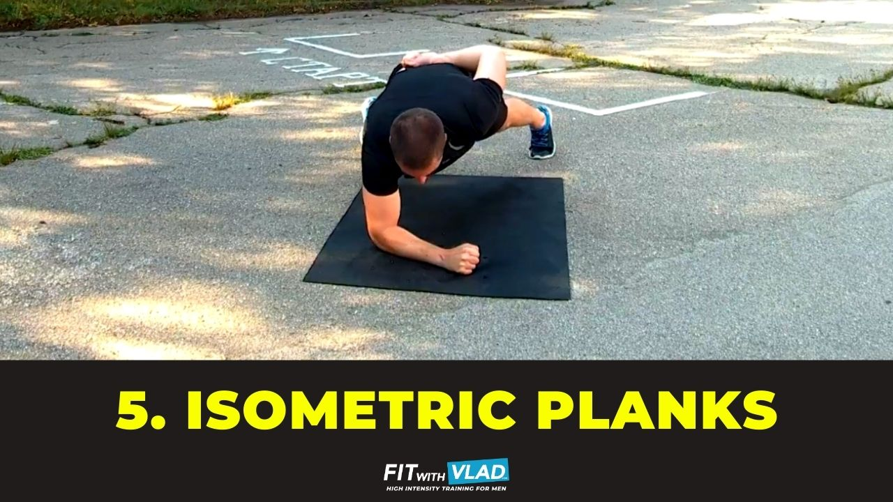 top 10 core exercises without equipment - isometric one arm plank