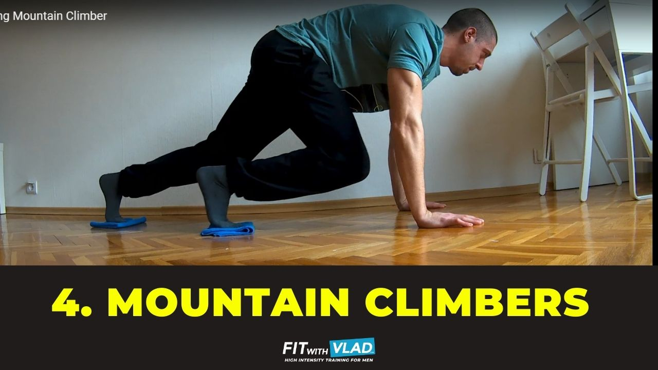 top 10 core exercises without equipment - mountain climbers