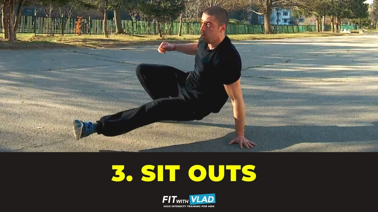 top 10 core exercises without equipment - sit outs