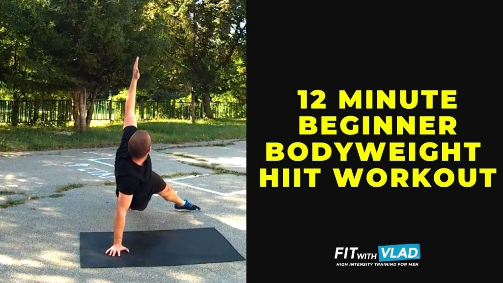12 Minute Beginner Bodyweight HIIT Workout (Total Body)