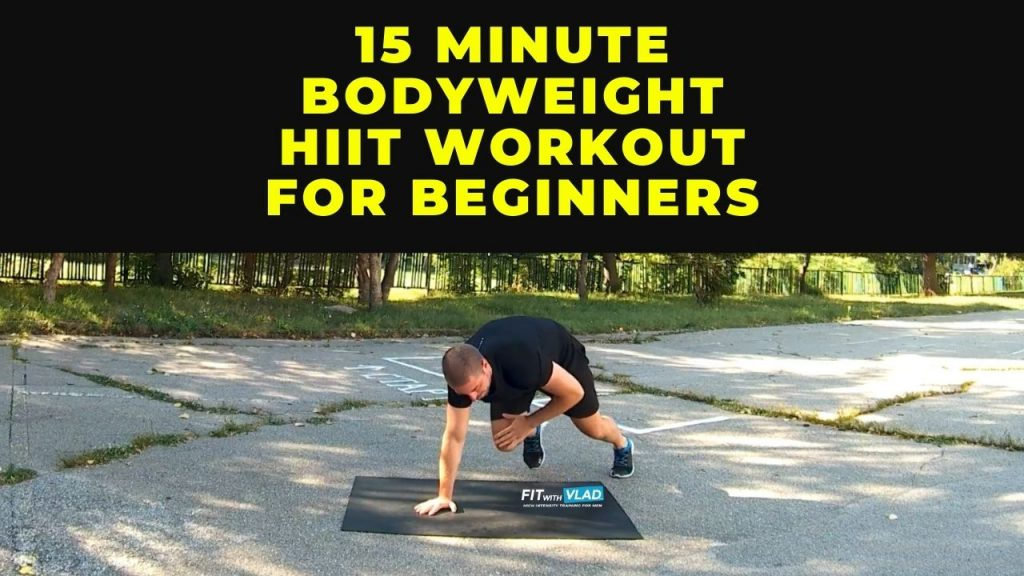 15 Minute Bodyweight HIIT Workout For Beginners (No Weights)
