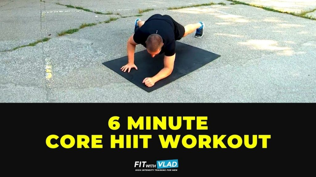 6 Minute Core HIIT Workout At Home (No Equipment)