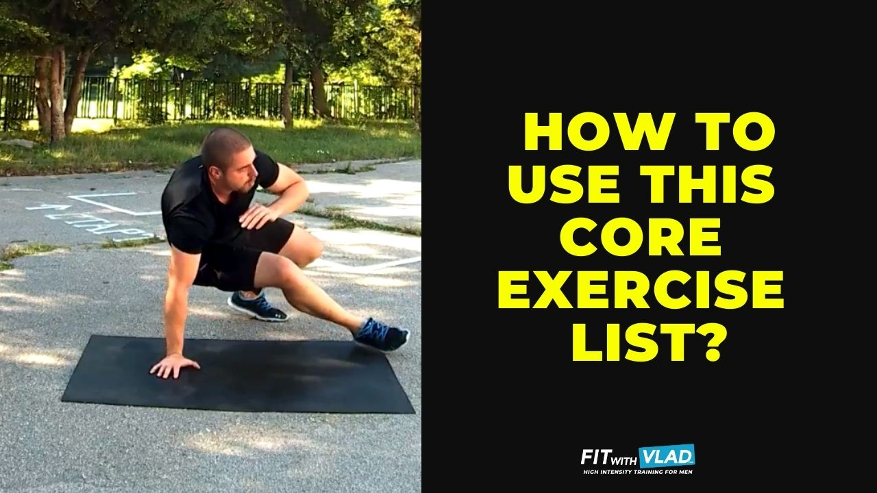 How to use this calisthenics core exercise list
