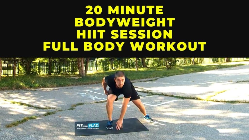 20 Minute Bodyweight HIIT Session (Full Body Workout)