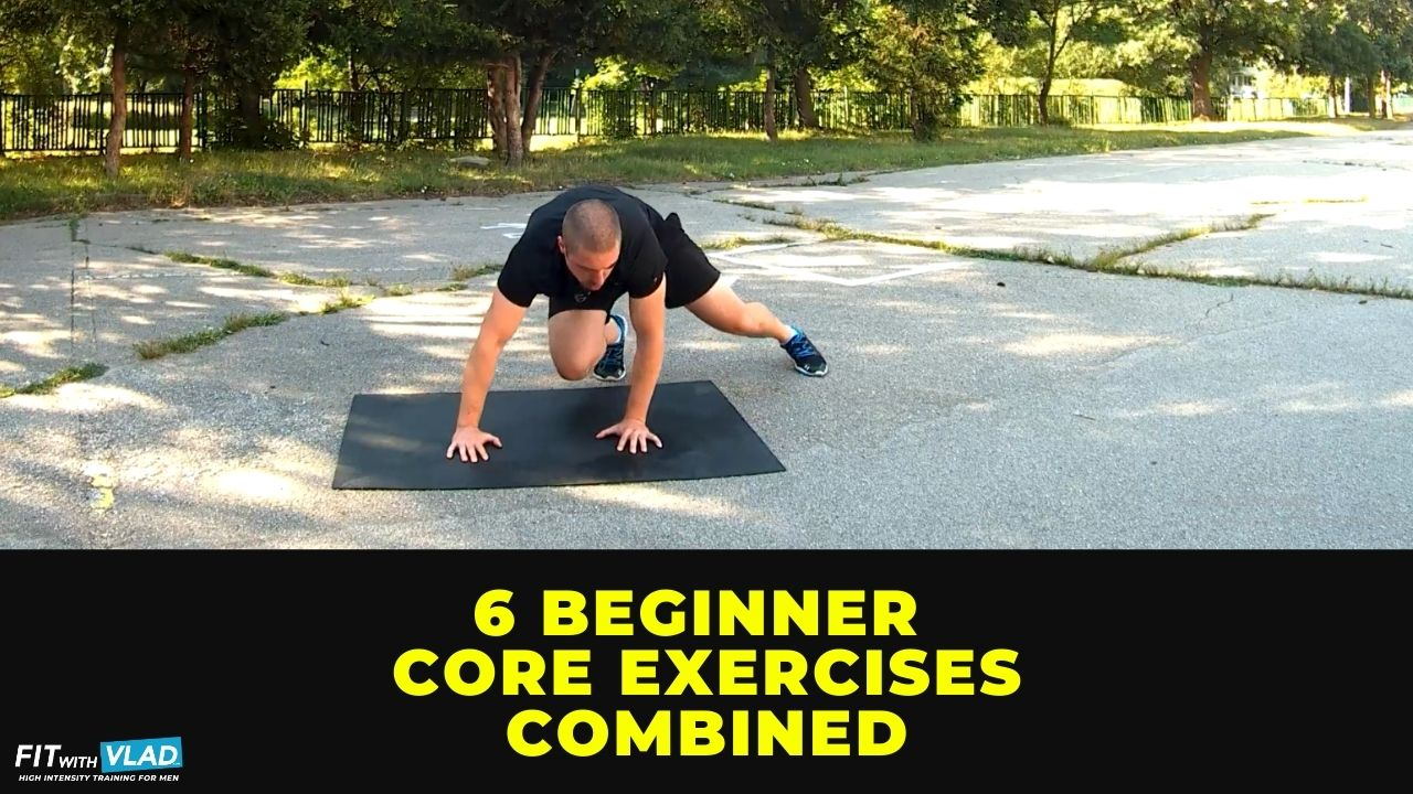 6 Beginner Core Exercises Combined In a HIIT Workout