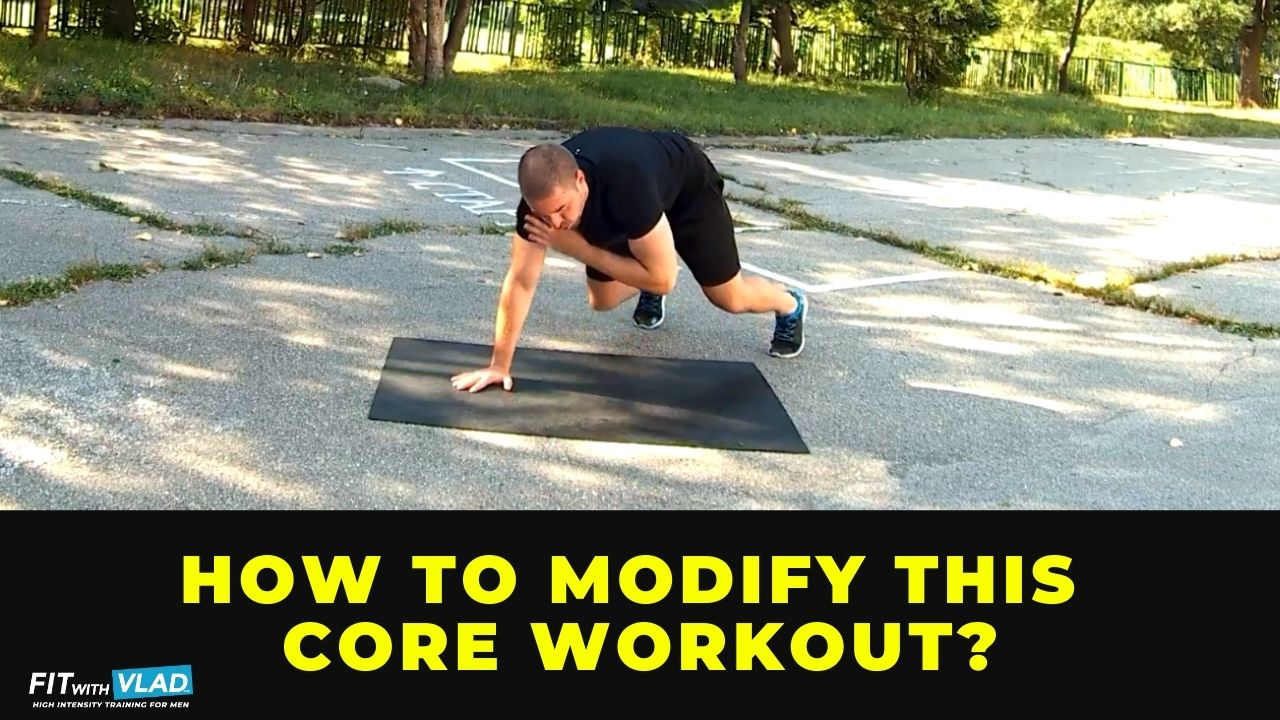 How to modify this 30 minute core workout at home