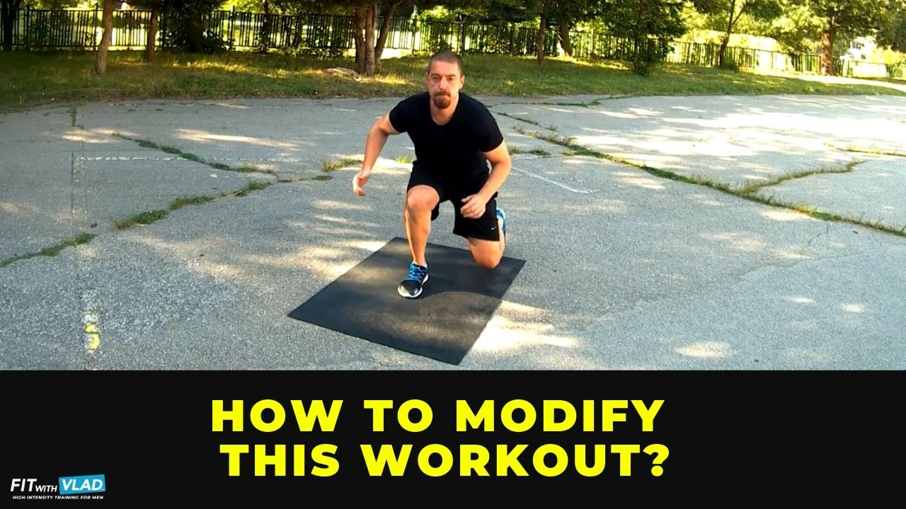 How to modify this full body HIIT workout for beginners at home