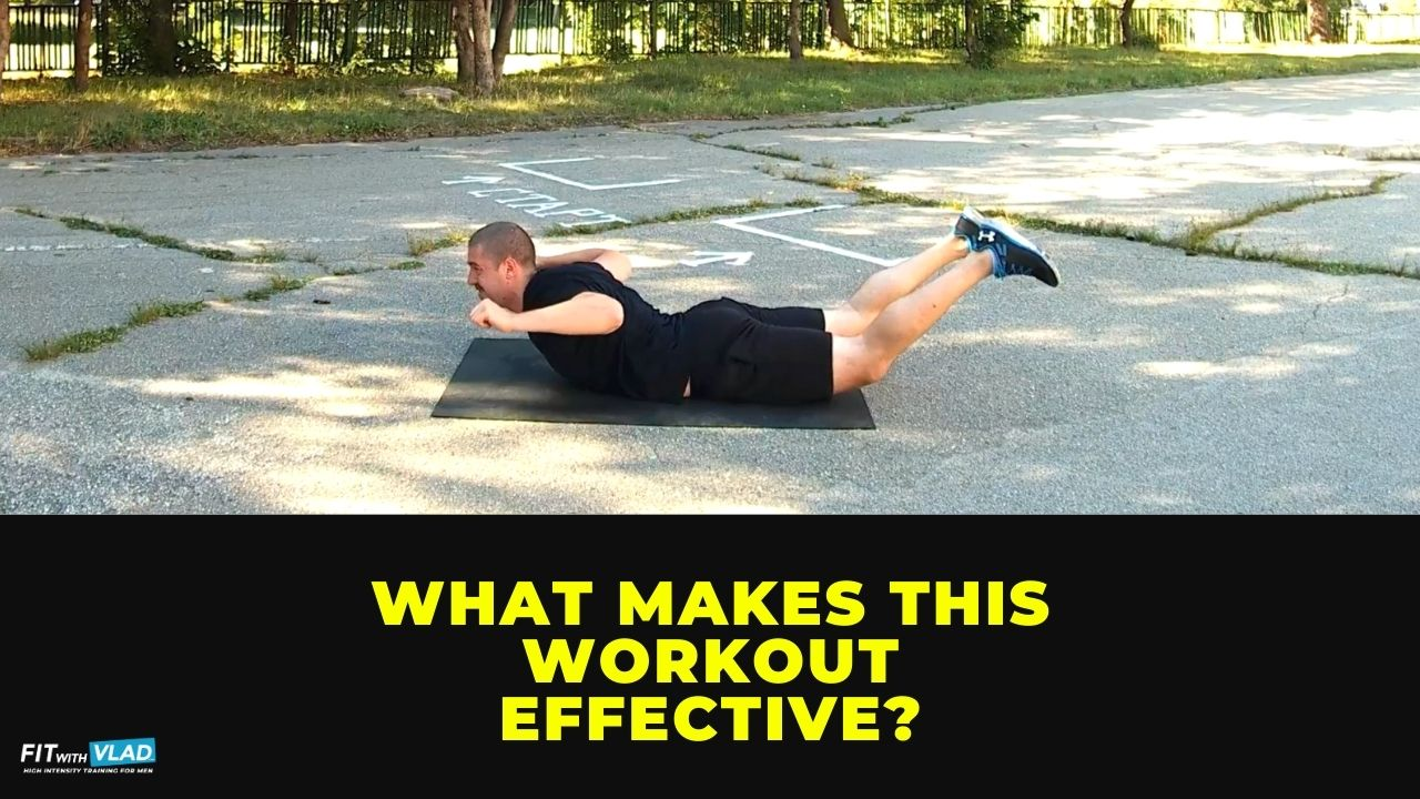 What makes this 30 minute HIIT bodyweight workout for beginners, effective