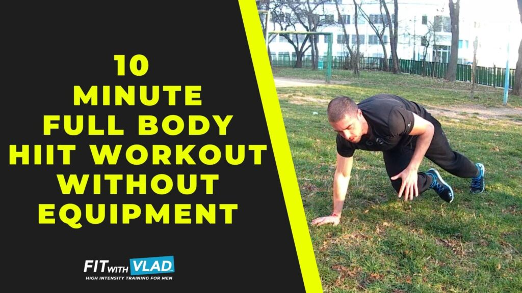 10 Minute Full Body HIIT Workout at Home Without Equipment (Beginner Routine)