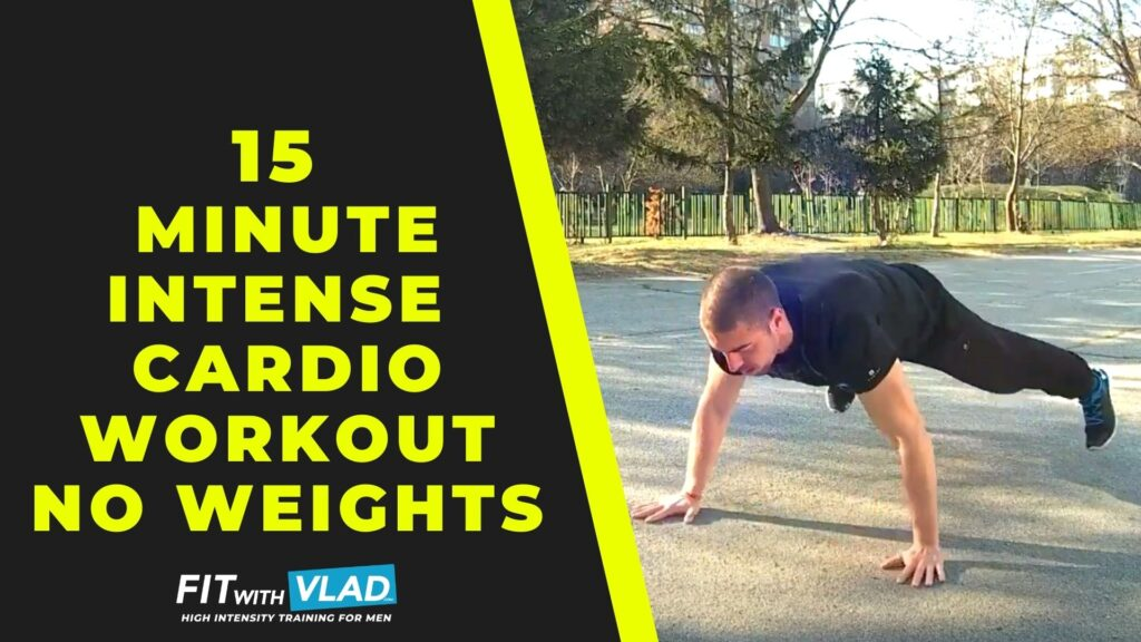 15 Minute Intense Cardio Workout at Home (No Weights)