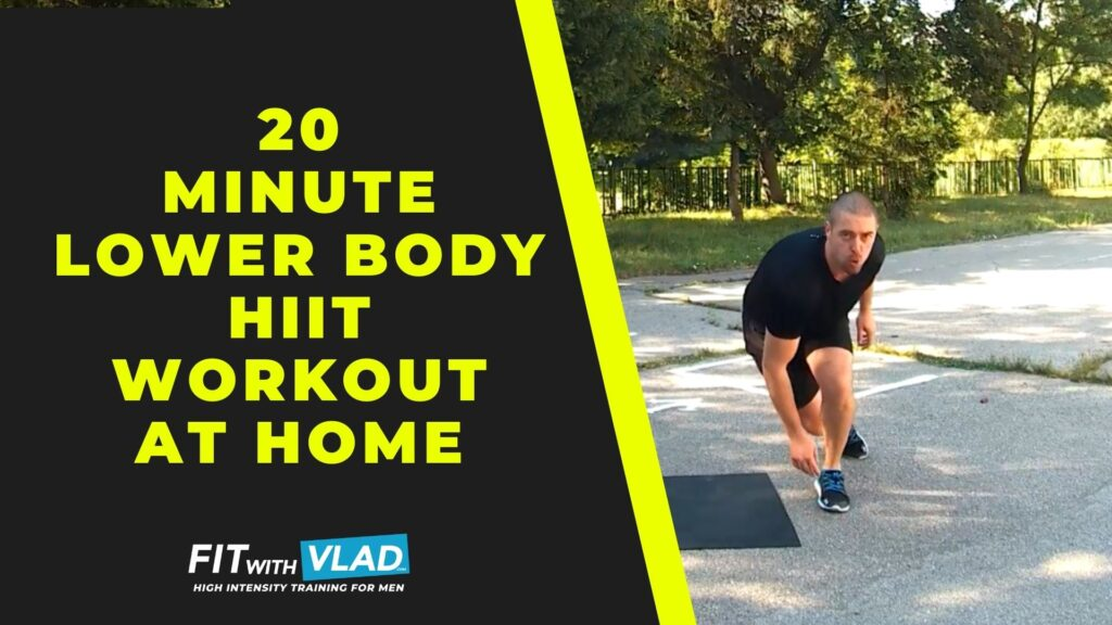 20 Minute Lower Body HIIT Workout at Home (No Weights)