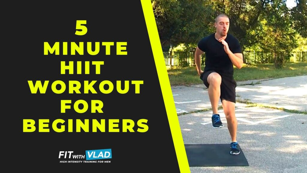 5 Minute HIIT Workout For Beginners (No Weights, Follow Along)