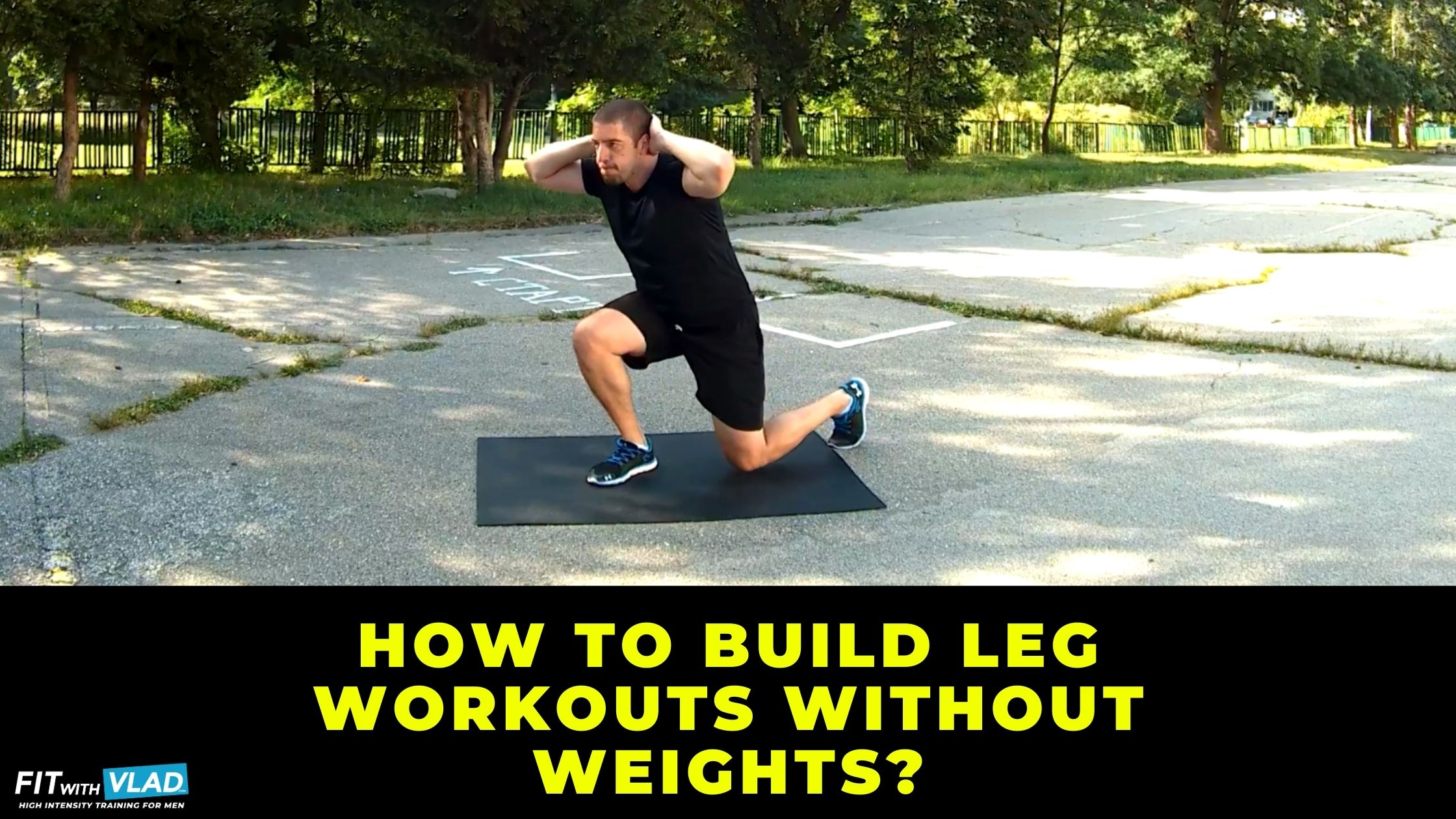 How to build leg workouts without weights