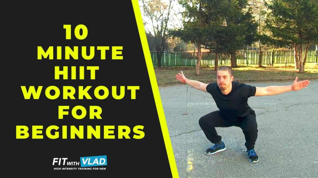 10 Minute HIIT Workout For Beginners at Home (No Equipment)