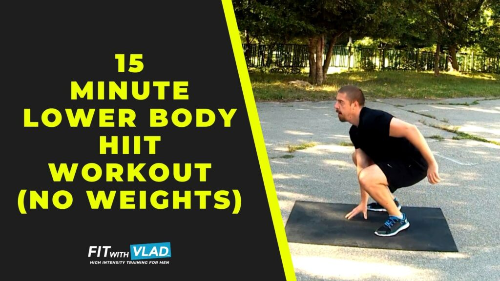 15 Minute Lower Body HIIT Workout (No Equipment)