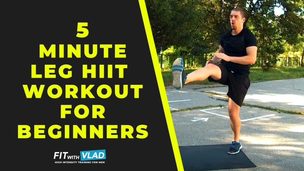 5 Minute Leg Workout at Home For Beginners (No Equipment)