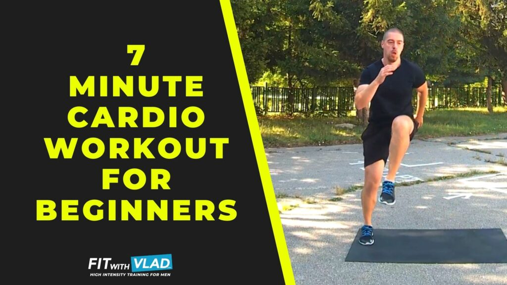 7 Minute Cardio Workout For Beginners (No Equipment)