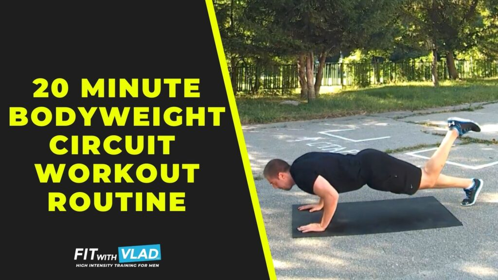 20 minute bodyweight circuit workout routine (No Equipment)
