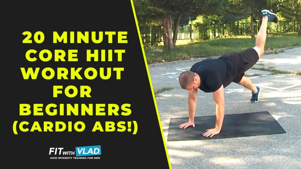 20 Minute Core HIIT Workout For Beginners (Cardio Abs!)