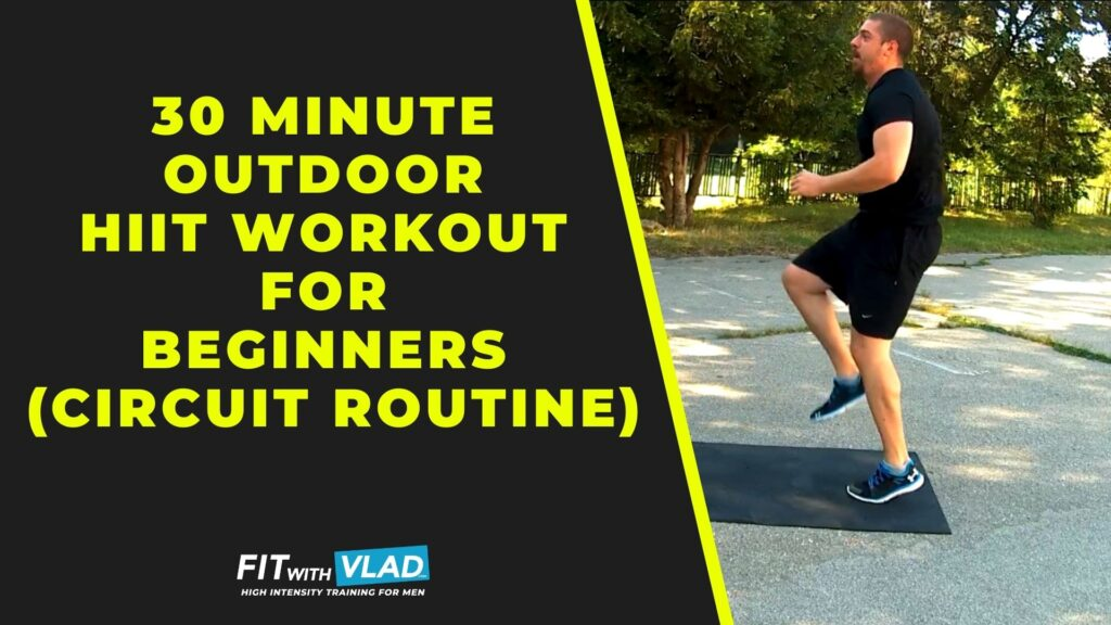 30 Minute Outdoor HIIT Workout For Beginners (Circuit Routine)